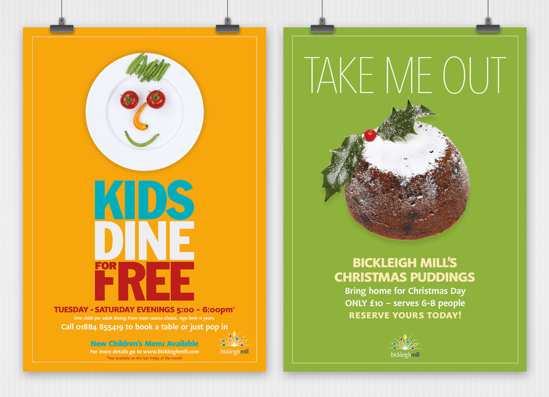 Bickleigh Mill event posters