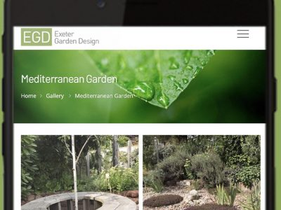 Exeter Garden Design responsive website