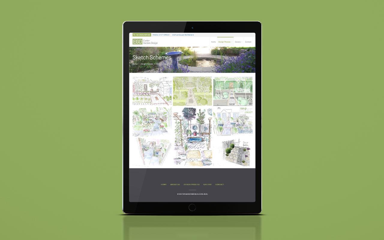 EGD website: tablet version