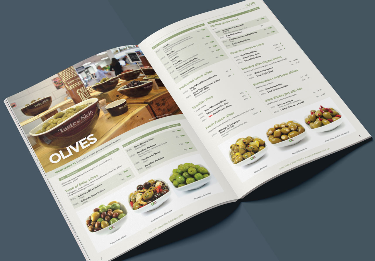 Food catalogue inside spread 1