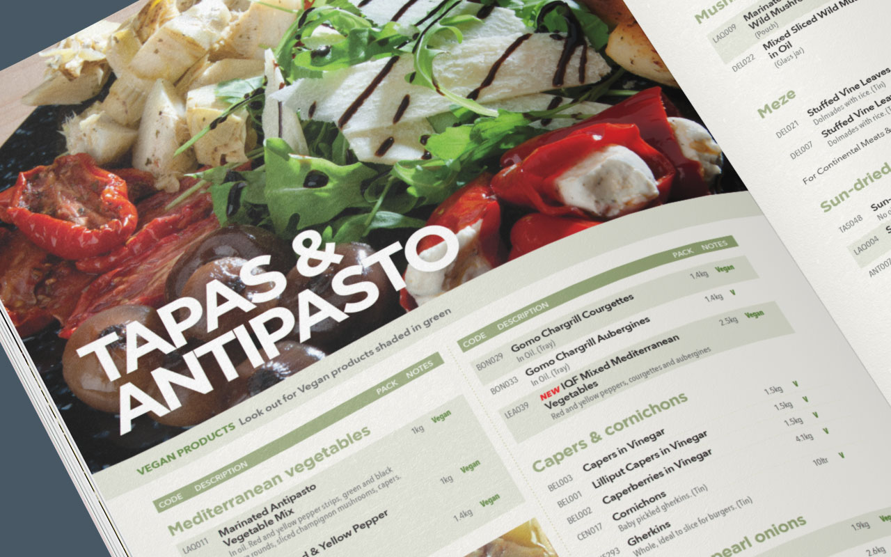Food catalogue inside spread 2