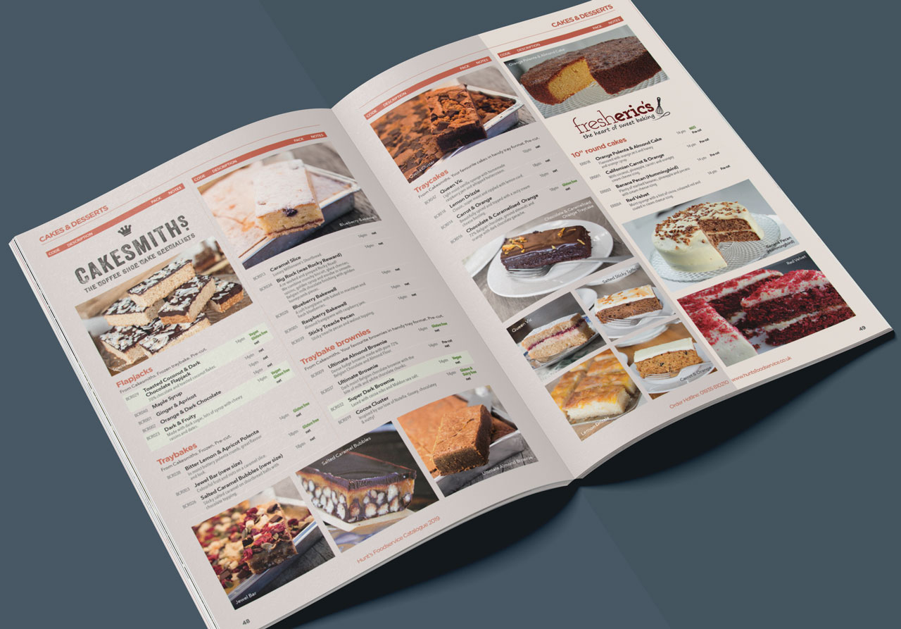 Food catalogue inside spread 3