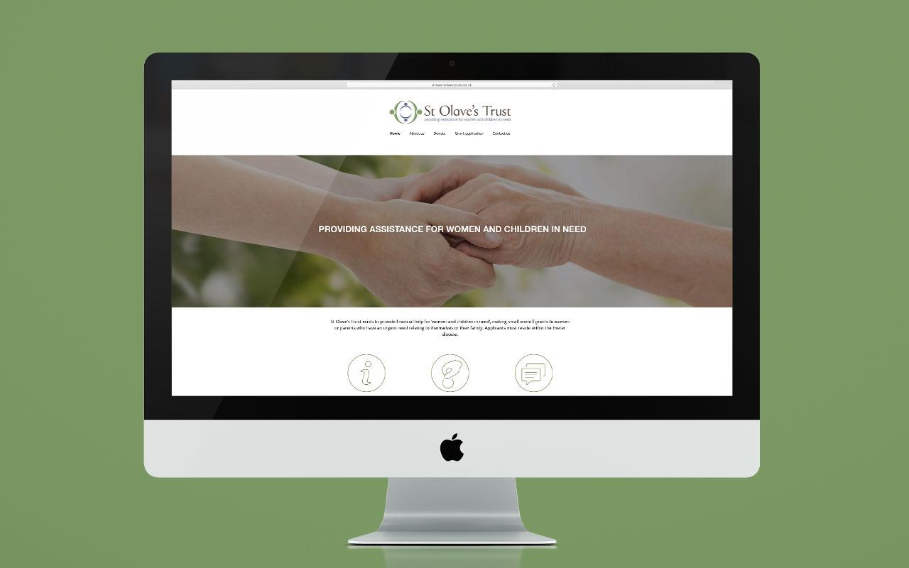 St Olaves Trust website - desktop version