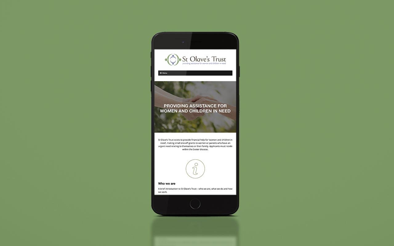 St Olaves Trust website - mobile version