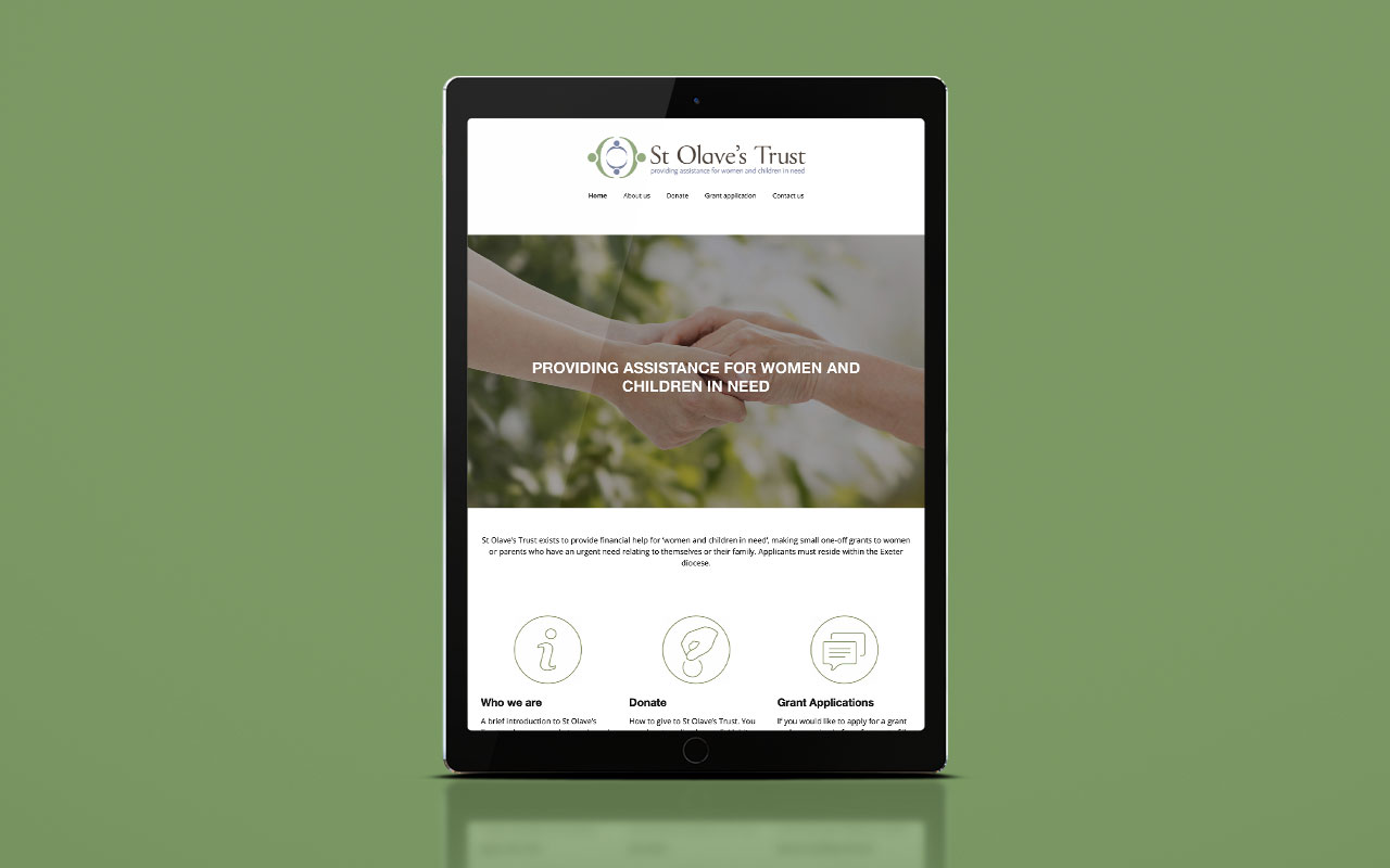 St Olaves Trust website - tablet version