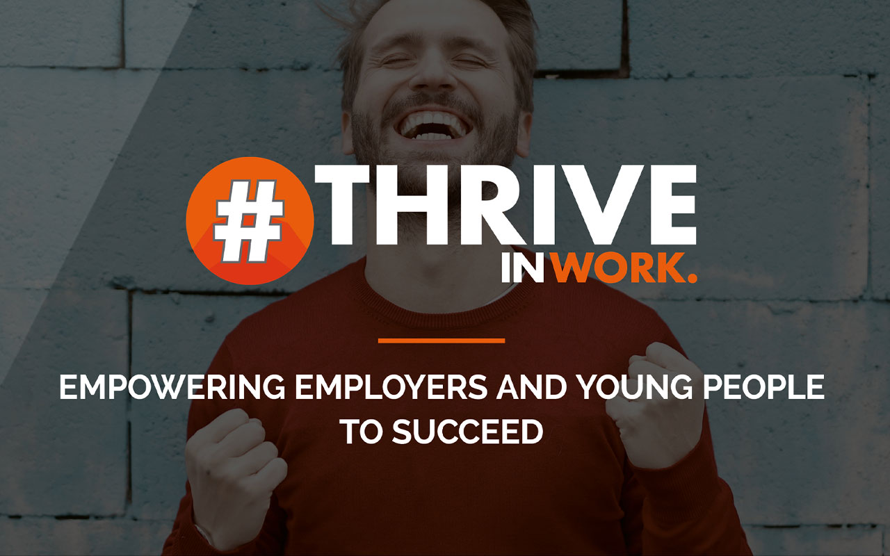 Thrive In Work home page close up