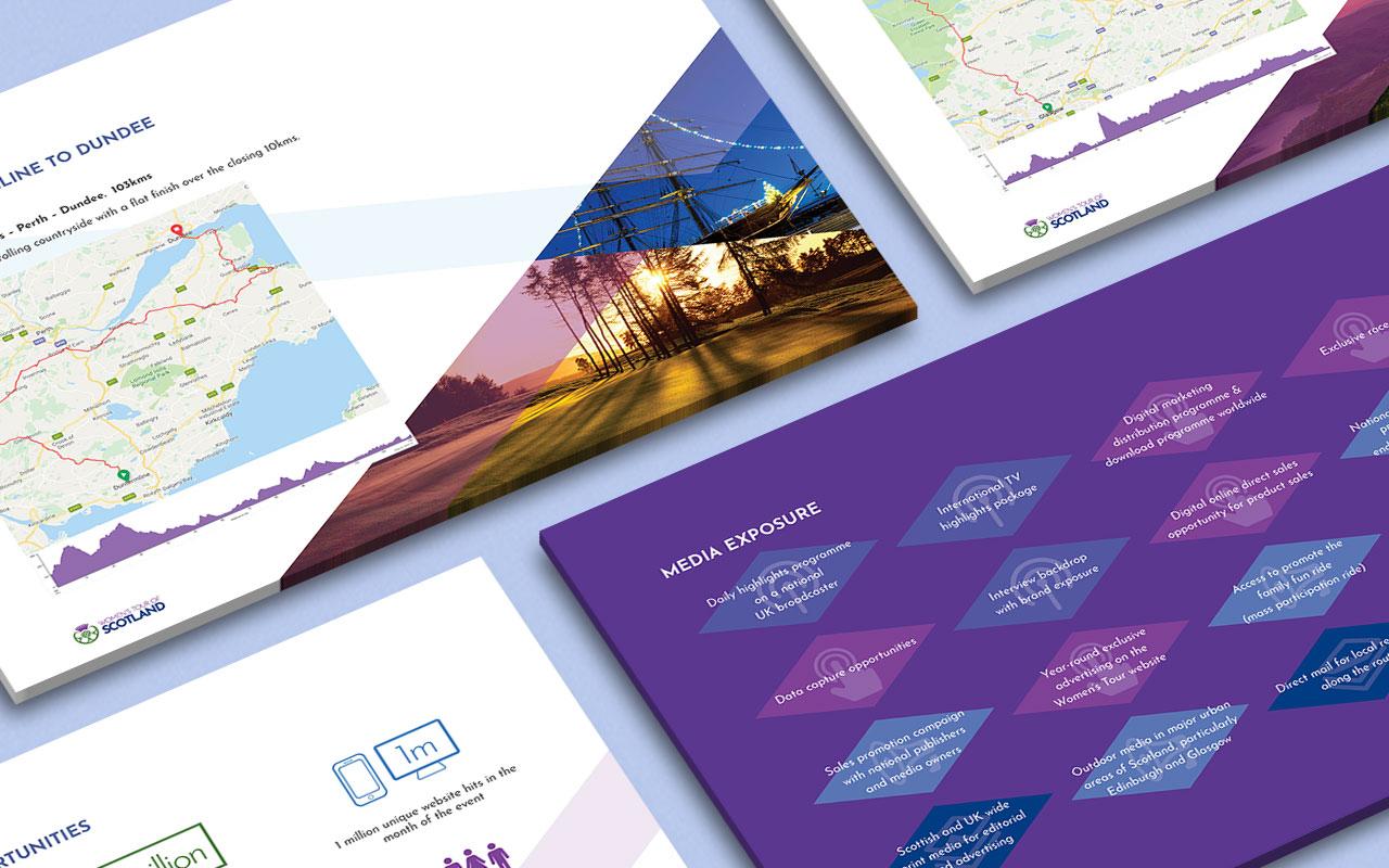 Event sponsor brochure close-up