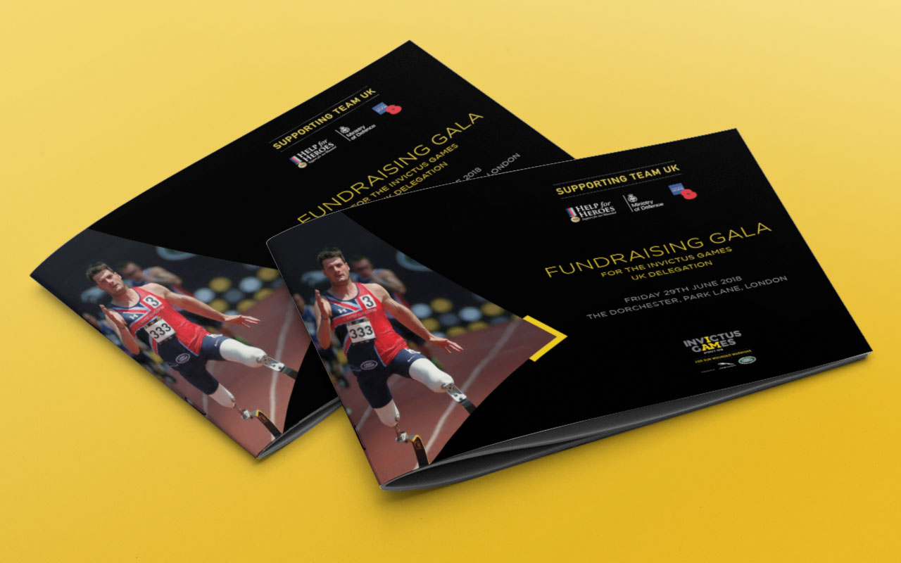 Invictus Games Gala Dinner event brochure cover