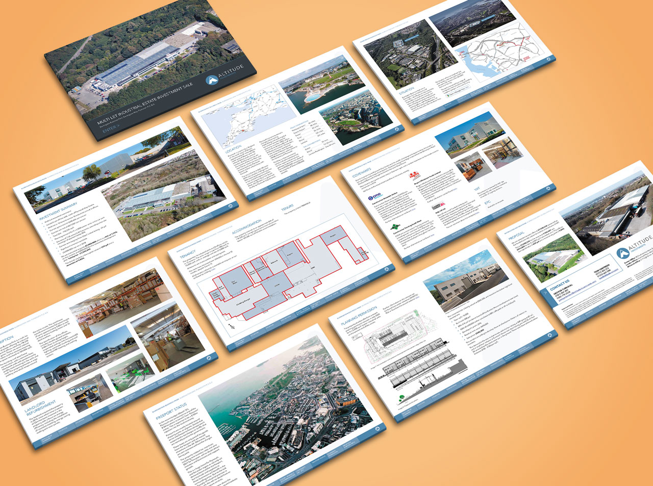 Investment brochure page range
