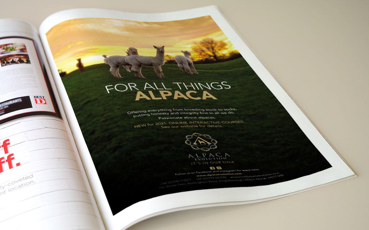 Full page magazine advert