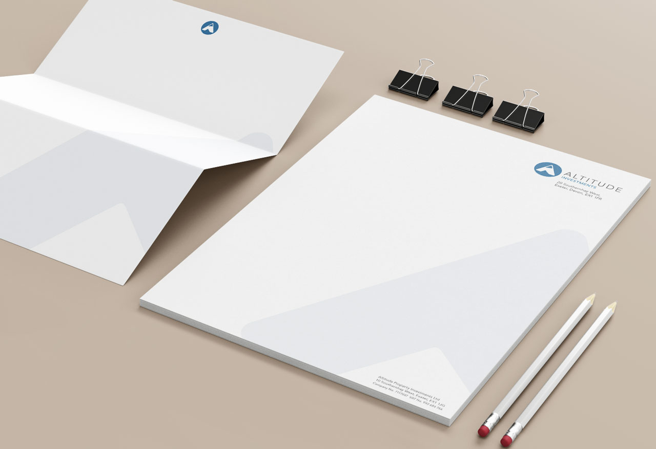 Letterhead and continuation sheet