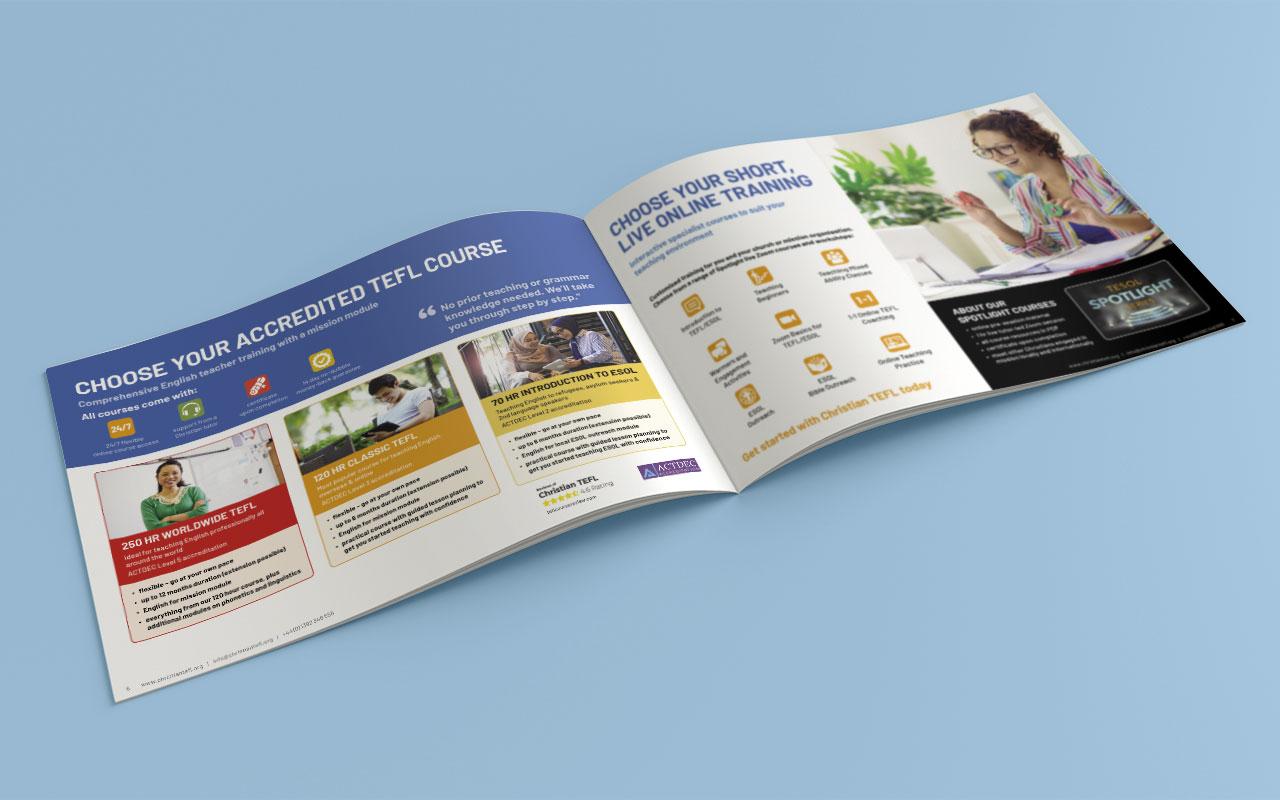 Online learning brochure inside spread 2