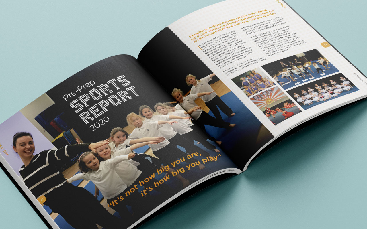 School magazine page spread 1