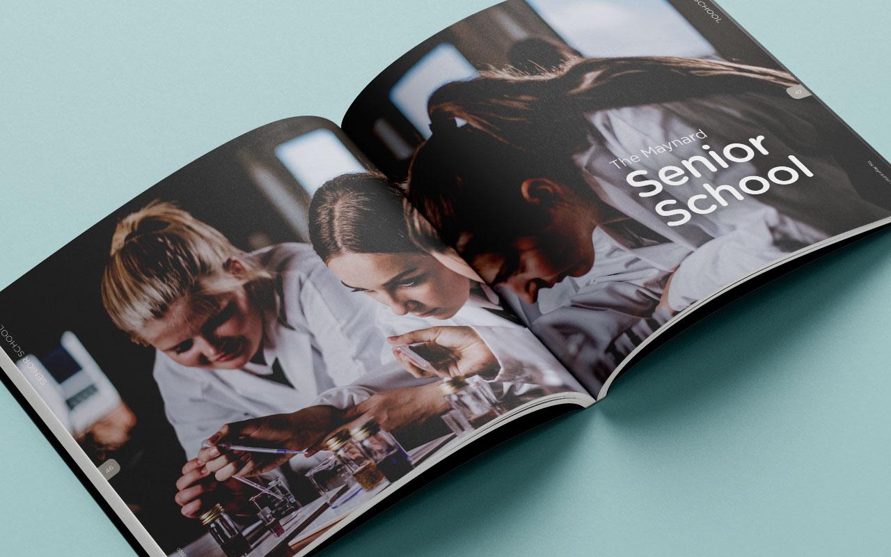 School magazine page spread 2