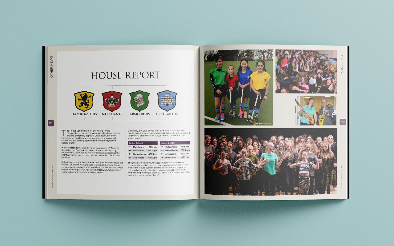 School magazine page spread 4