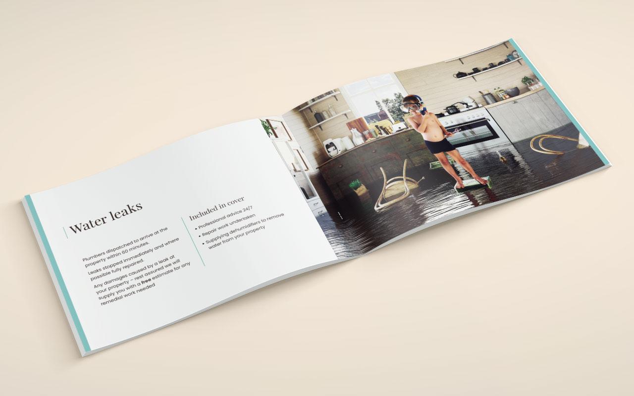 Property management brochure inside spread 2