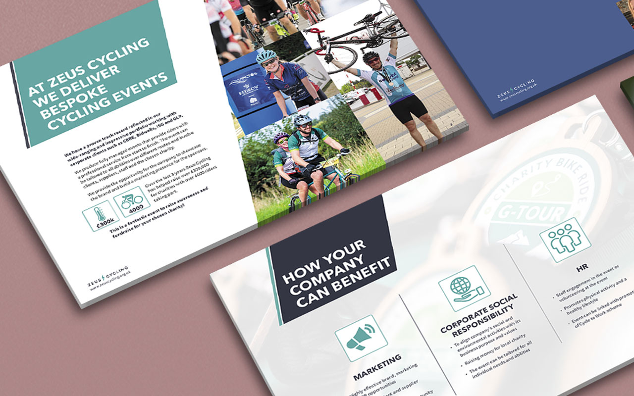 Event marketing brochure graphics