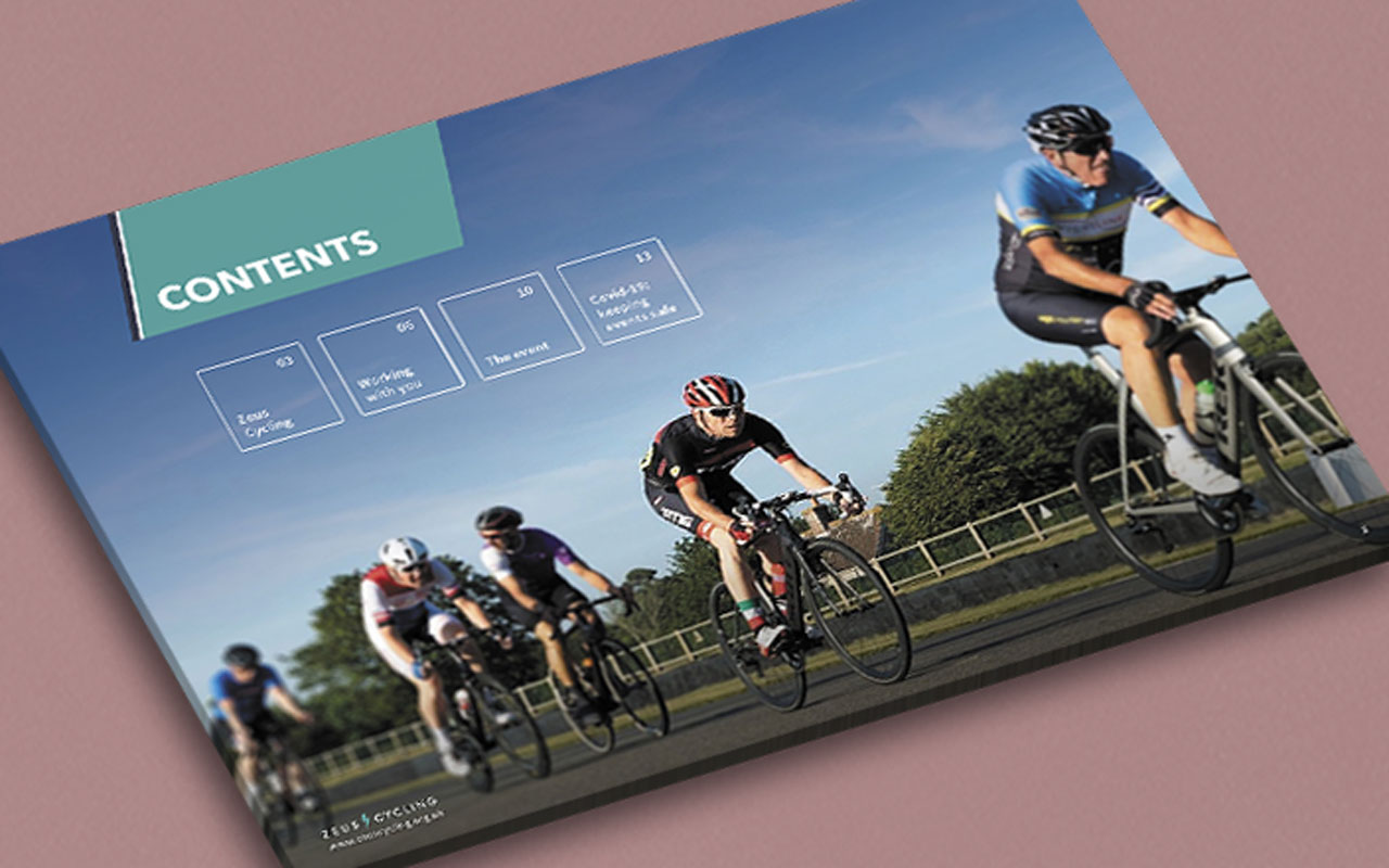 Event marketing brochure contents page
