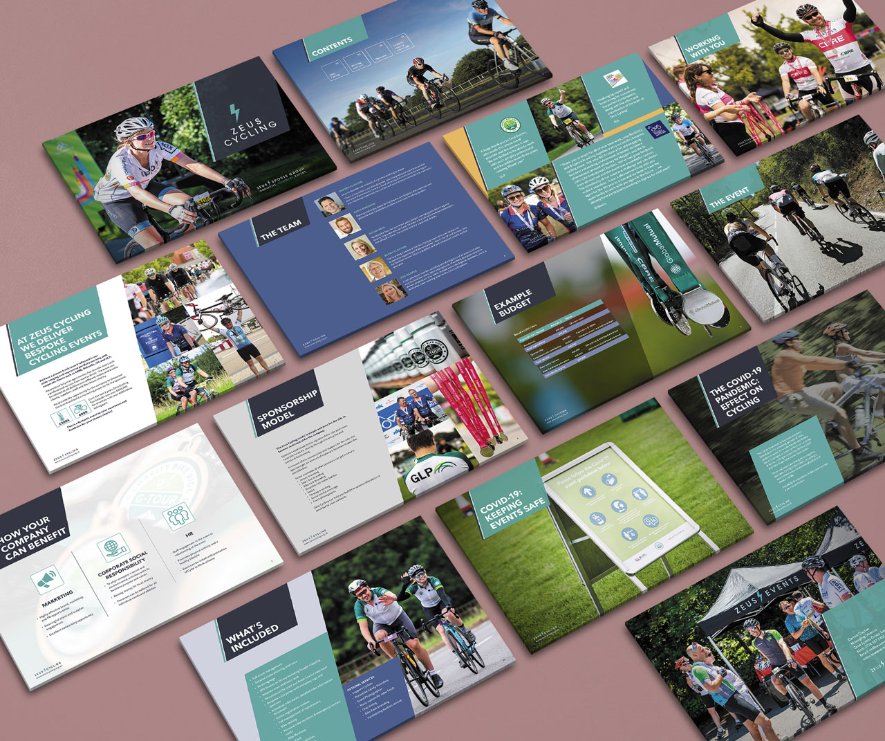 Event marketing brochure page range